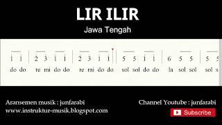 not angka lir ilir - lagu daerah tradisional nusantara indonesia - solmisasi