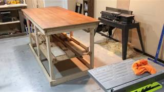 Assembly Table with Lumber Rack