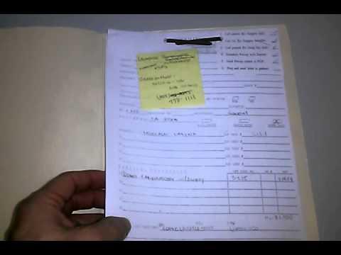 medical records folder sample 1 youtube