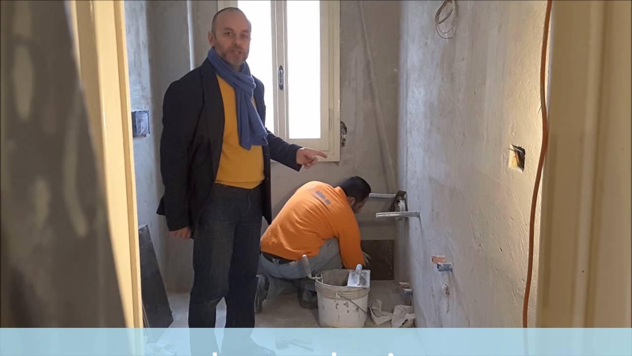 Ristrutturazione bagno colonna porta lavatrice asciugatrice e doccia idromassaggio youtube - Mobile bagno con lavatrice ...