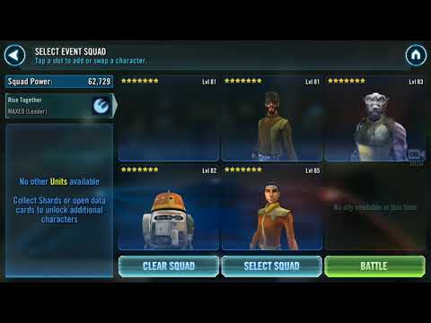 Swgoh - Thrawn event 7* all Phoenix at G8 and with Chopper!