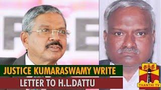 Jayalalithaa DA Case : Justice Kumaraswamy Write Letter to Justice H L Dattu