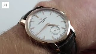 Vacheron Constantin Traditionnelle Small Seconds 82172 Watch Review