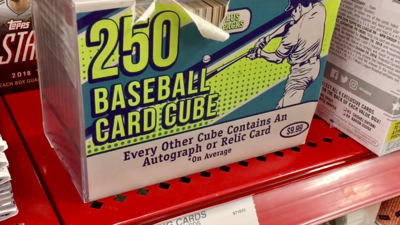 Opening A Weird Mystery Baseball Card Cube From Target Autograph Pull