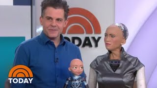 Sophia, one of the most advanced humanoid robots ever and now a cel...