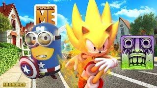 Temple Run 2 Halloween VS Sonic Dash 2 VS Despicable Me 2 Minion Rush