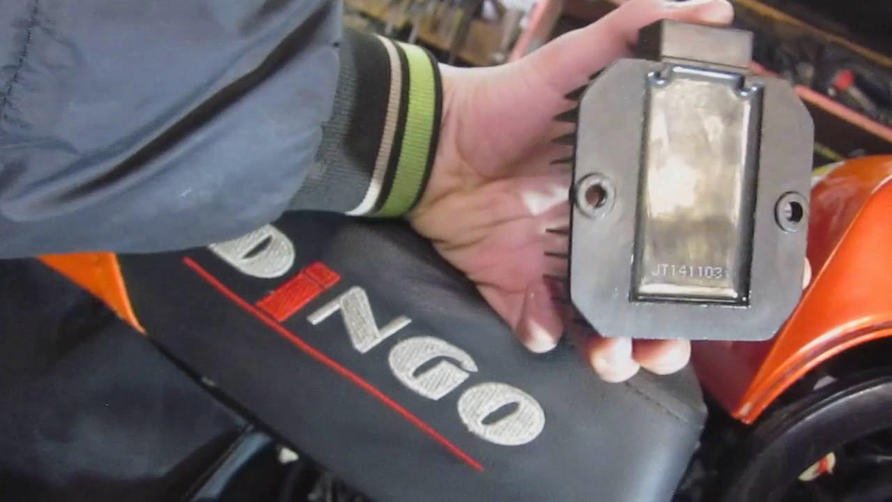 изменение угла зажигания, снегохода DINGO T150(опережение зажигания).