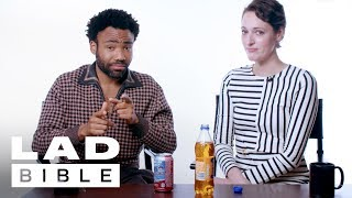 Donald Glover & Phoebe Waller-Bridge, from Solo: A Star Wars Story, Eat American and UK Snacks