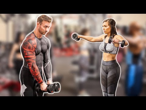Body Painted Couple Learns How To Workout