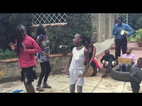 Luhya dance by the children at Kigame Music  Academy