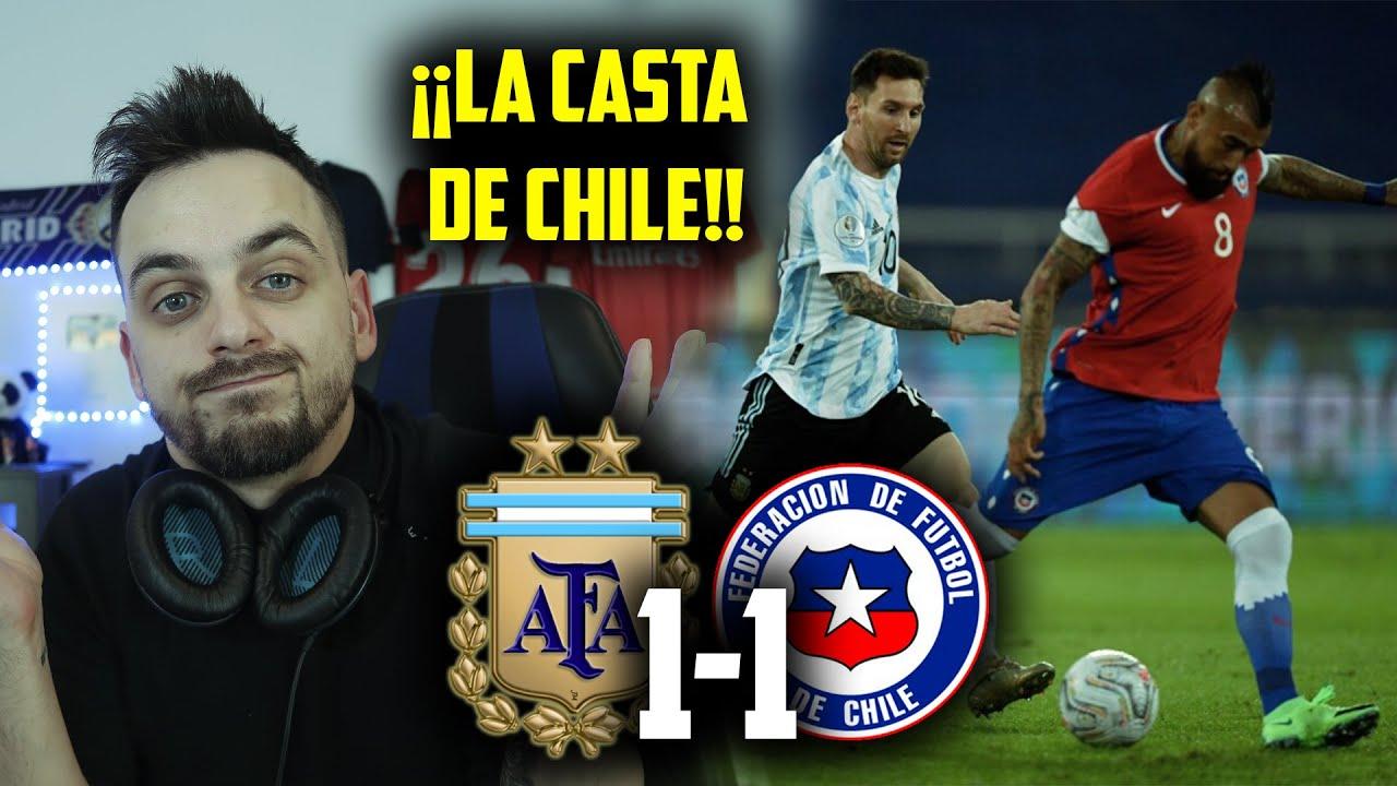 MESSI JUEGA SOLO, SU SUEÑO ESTÁ LEJOS · ARGENTINA 1-1 CHILE · EMPATE VALIOSO de CHILE · COPA AMÉRICA