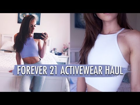 SPORTS BRA HAUL | forever 21 sports bras for small boobs
