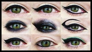 Repeat youtube video 12 EYELINER TUTORIALS ★ For all Eye Shapes