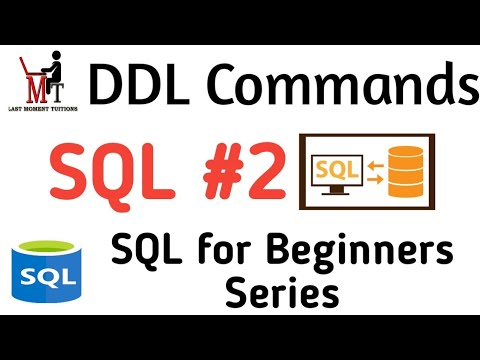Data definition language  in hindi | SQL placement series part 2