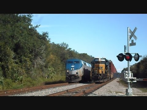 Thumbnail: Amtrak Train Silver Star Passes CSX Train Making Pick Ups