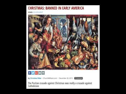 War on Christmas: Banned in Early America - YouTube