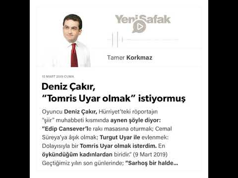 """Tamer Korkmaz - Deniz Çakır, """"Tomris Uyar olmak"""" istiyormuş - 15.03.2019"""