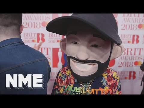 Jax Jones talks 'Breathe' and his new album while wearing a massive head at the BRITs 2018