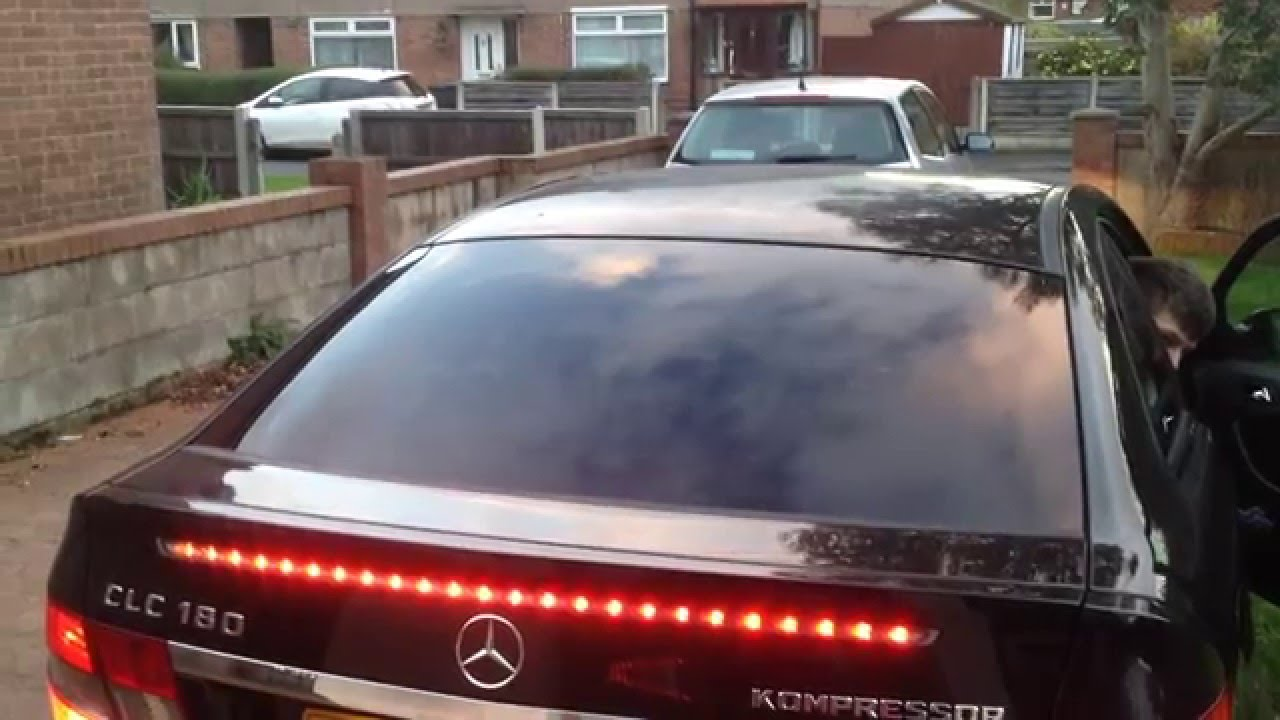 Changing the third brake light on a mercedes benz clc for Mercedes benz brake light problem