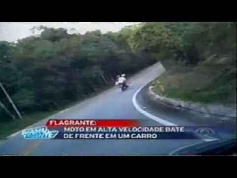 Flagra de Acidente de Moto - Brasil Urgente 24/05/2010