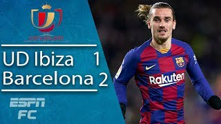 Barcelona avoid embarrassment in Ibiza thanks to goals from Antoine Griezmann | Copa del Rey