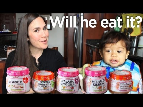 ✽✽ Japanese Baby Food vs. American Baby ✽✽