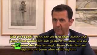 Präsident Assad:  Ukraine, Syrien, die ganze Welt am Abgrund eines grossen Krieges