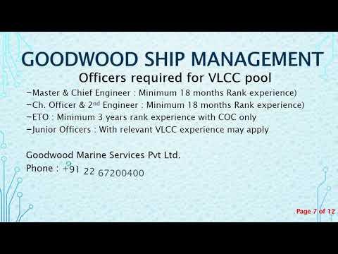 Ships Vacancies dated 10 May 2018