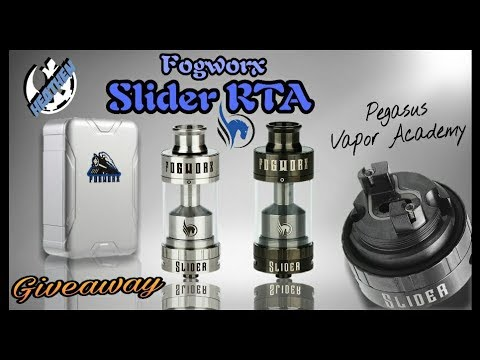 Slider Single Coil RTA I PVA & Fogworx I Giveaway