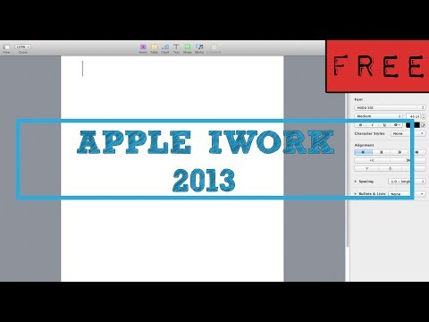 iWork 2013 FREE (for everyone), How to tutorial - YouTube