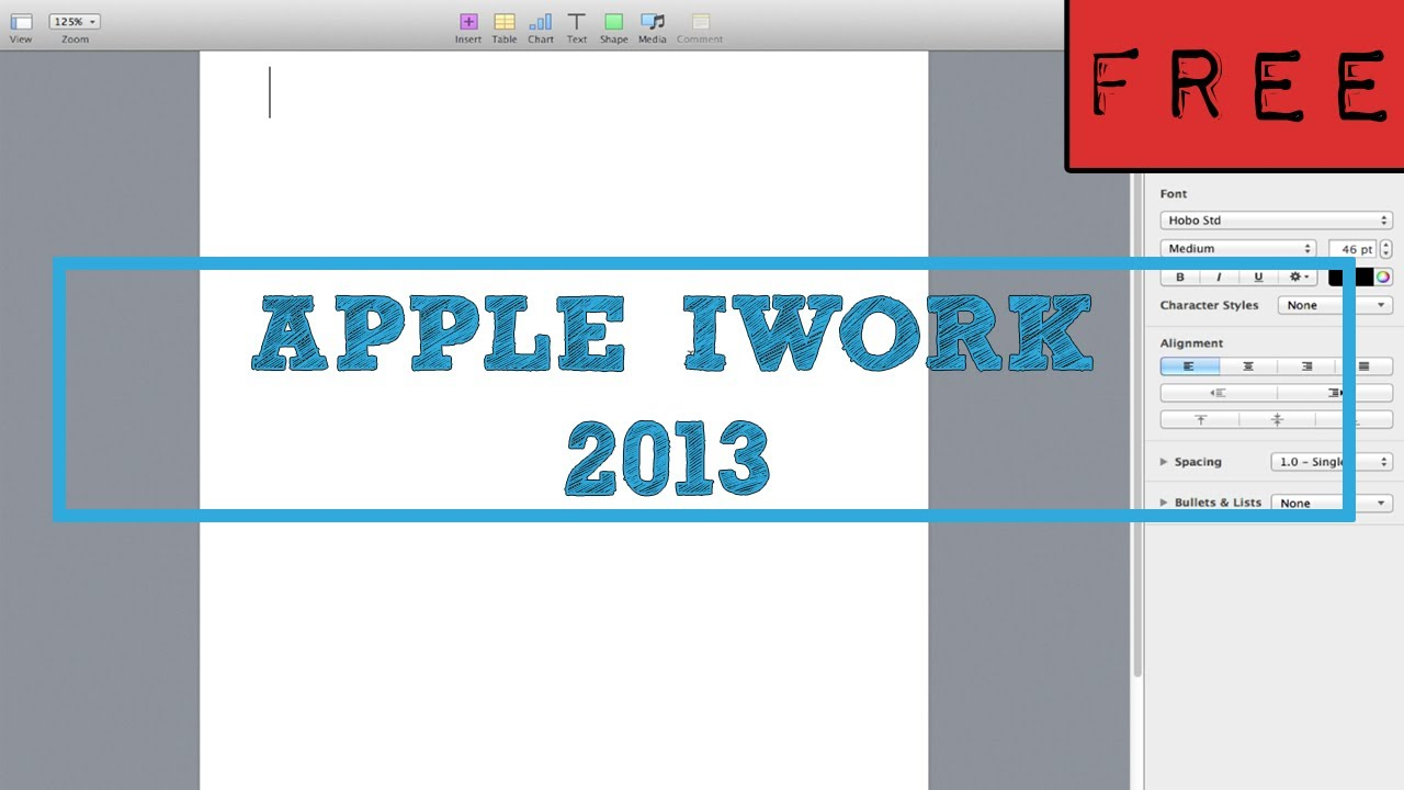iWork 2013 FREE (for everyone), How to tutorial