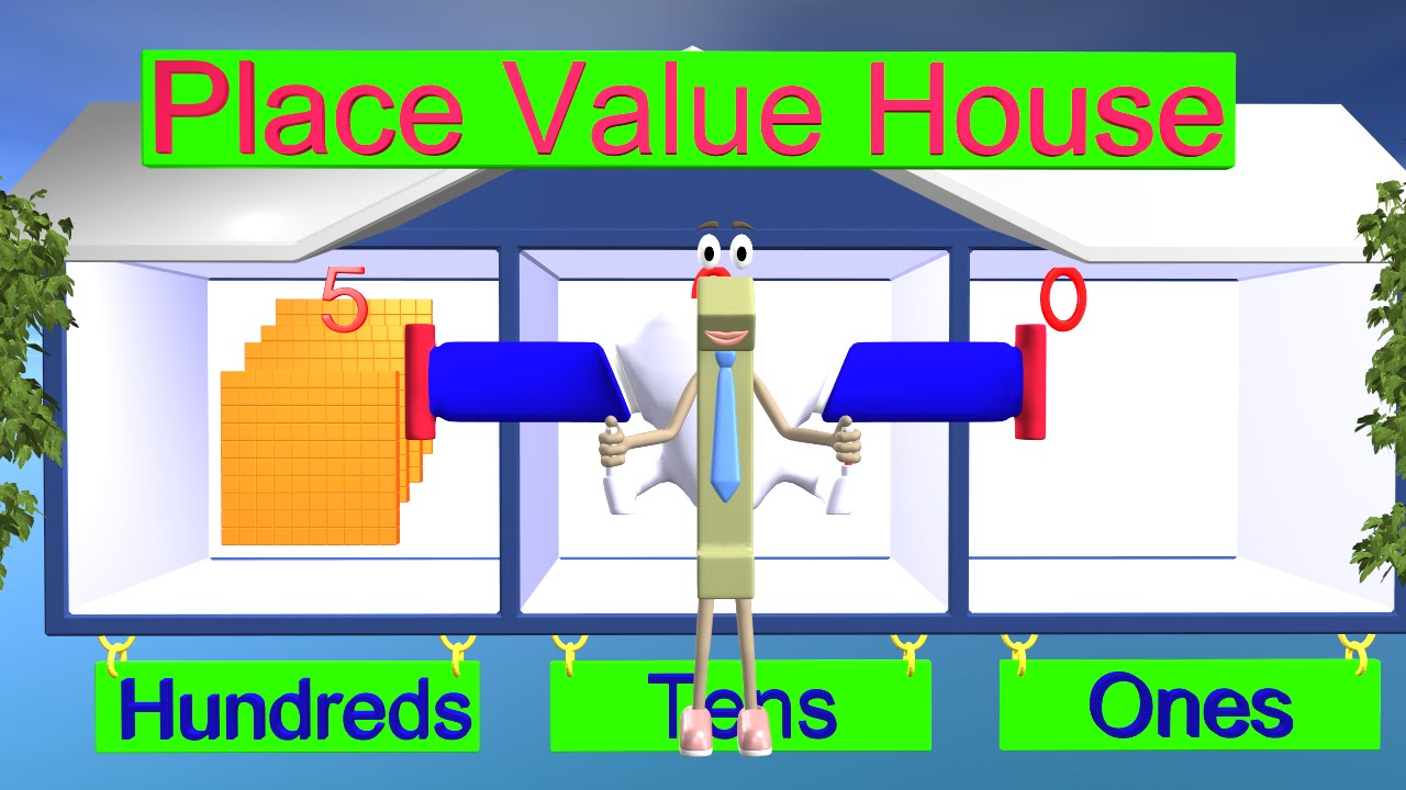 Place Value Lesson - 1st and 2nd Grade Math - YouTube [ 720 x 1280 Pixel ]