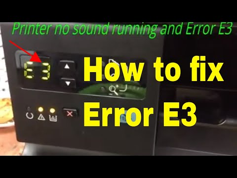 how to fix hp laser jet M1132 error E3  full