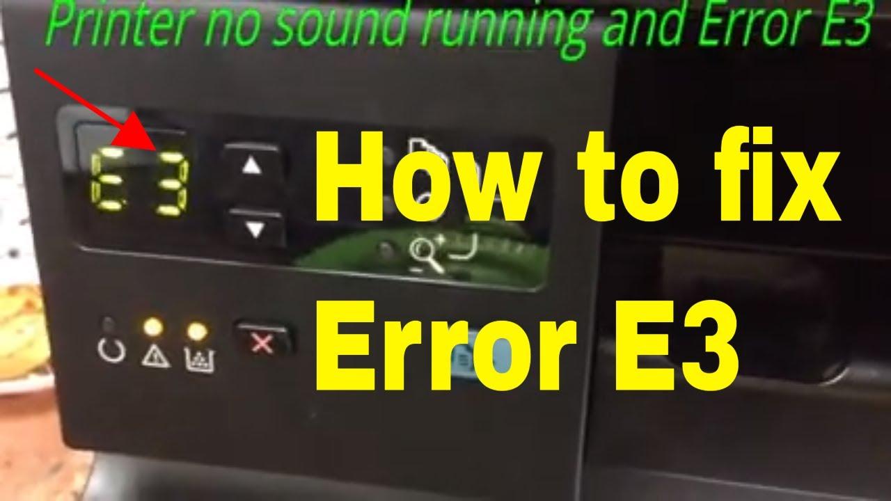 how to fix hp laser jet M1132 error E3 full
