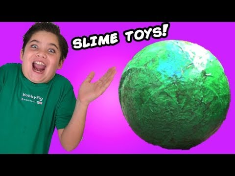 Thumbnail: Biggest Booger Ball! Toxic Slime Egg + Prank. Sour Candy n' Smashing Farts by HobbyKidsTV