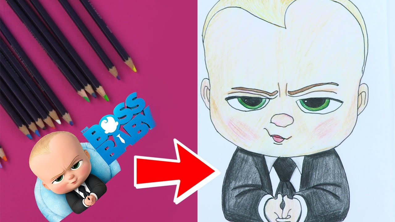 how to draw boss baby u0026 colour in children arts u0026 crafts