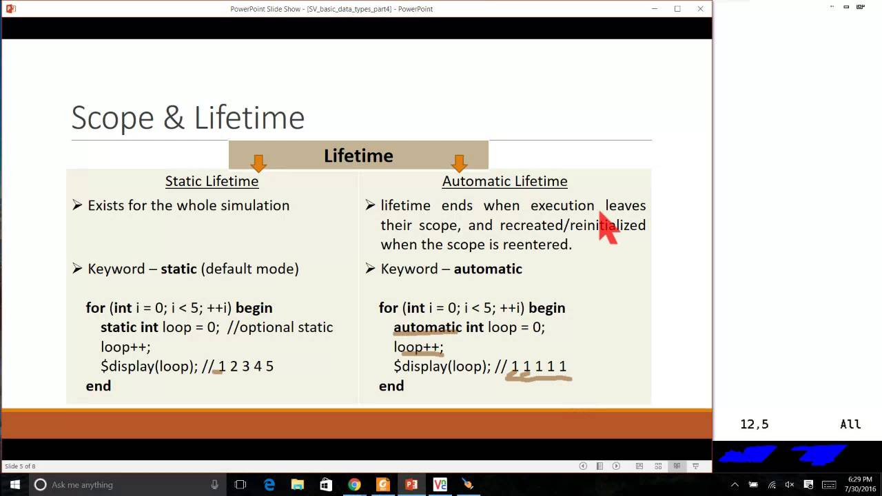 SystemVerilog for Verification Session 5 - Basic Data Types (Part 4)