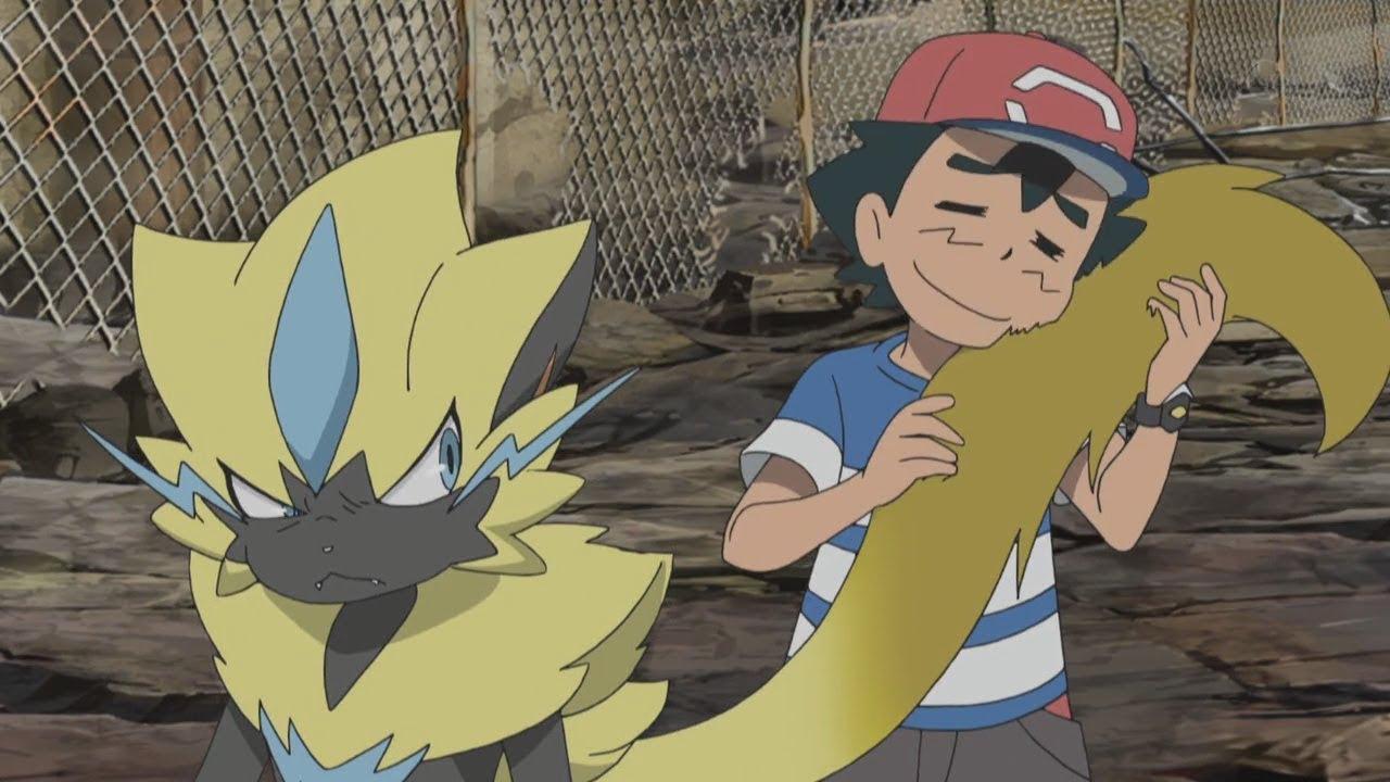 Download Ash Vs Zeraora [FULL FIGHT] - Pokemon Sun and Moon Episode 100 and 101「AMV」