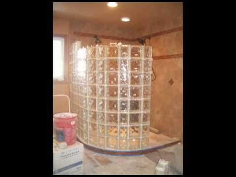 Installing Wall Tile >> Installing a Glass Block Curved Shower Wall - YouTube