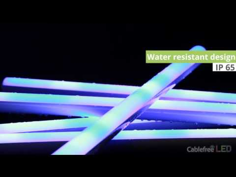 Wireless led - Astera Wireless Pixel tube AX1 demonstration Cablefree LED
