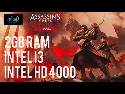Assassin's Creed Chronicle RUSSIA on 2gb RAM,Intel i3,Intel HD 4000
