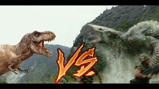 T-Rex vs Skull Crawler