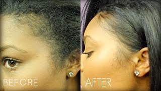 How To: Style Edges on Straight Hair & Life Updates!  | Melodie Miller