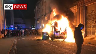 Several police officers injured during protest in Bristol