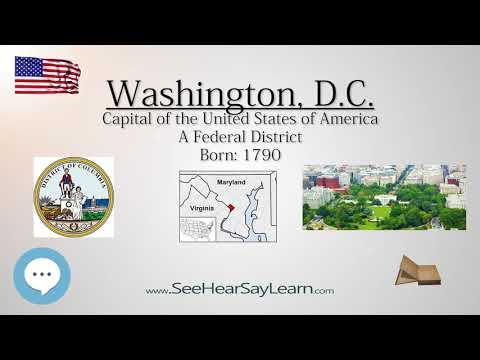 Washington DC   US Capital | EYNTK  about The States & Territories ❤️🌎🔊✅
