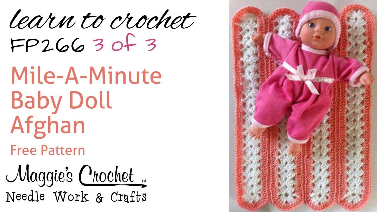 Mile-A-Minute Afghan Part 3 of 3 Right Hand Free Crochet ...
