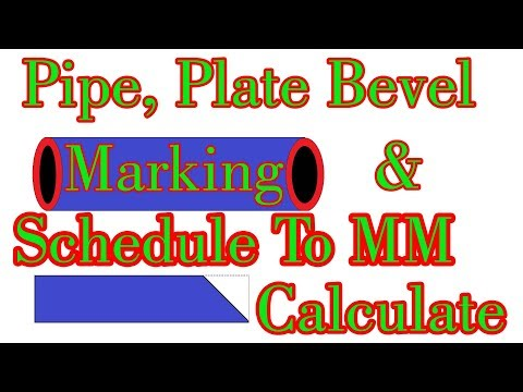 How To Bevel Marking Pipe & Plate