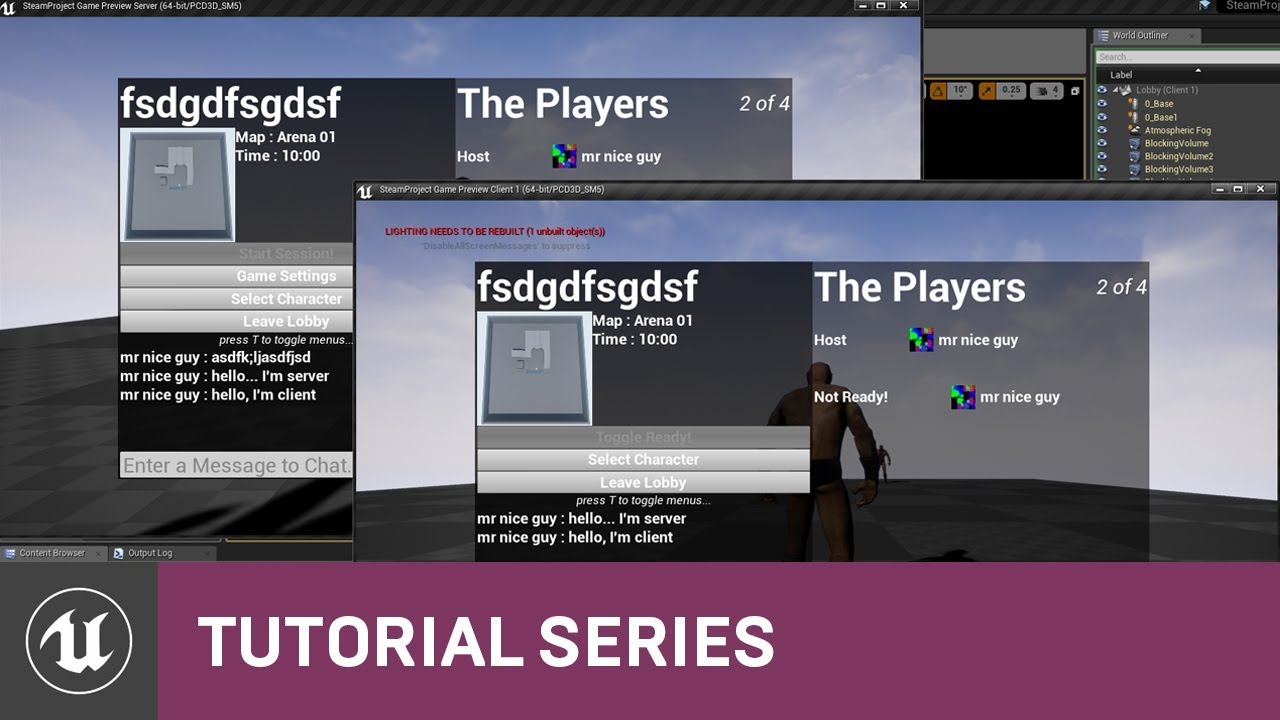 Blueprint multiplayer chat setup 22 v411 tutorial series blueprint multiplayer chat setup 22 v411 tutorial series unreal engine malvernweather Choice Image