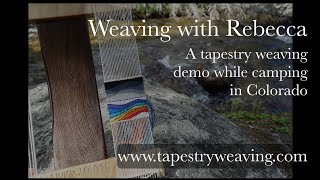 Tapestry weaving demonstration on a little loom