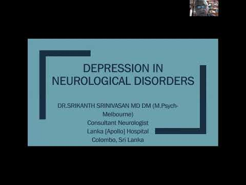 Depression In Neurological Disorders - Srikanth Srinivasan - 19 July 2020